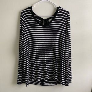Cupio   Striped Top with Bows in the back